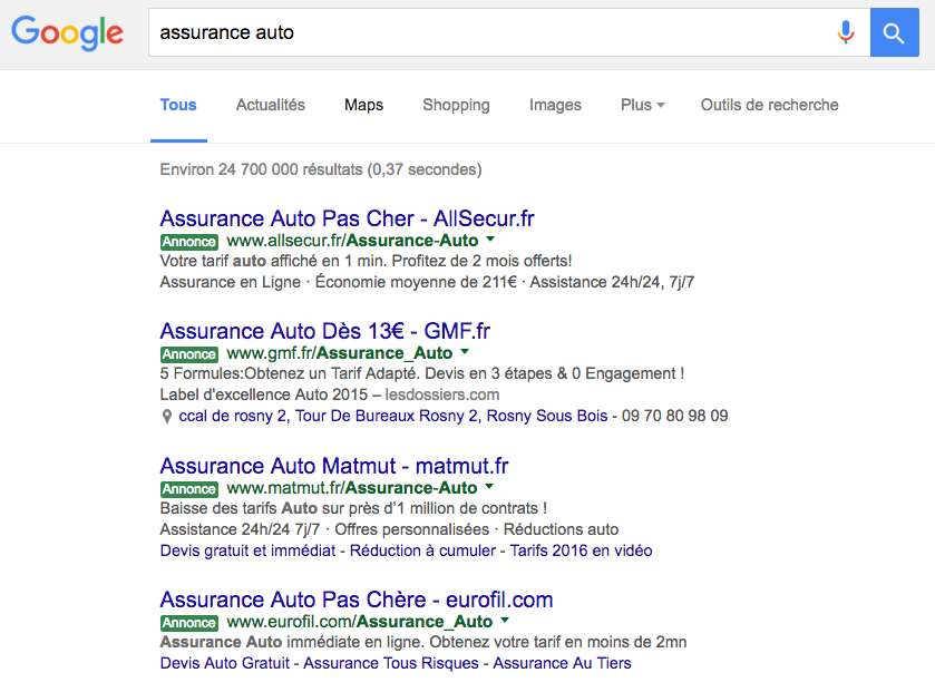 google-adwords-couleur-vert