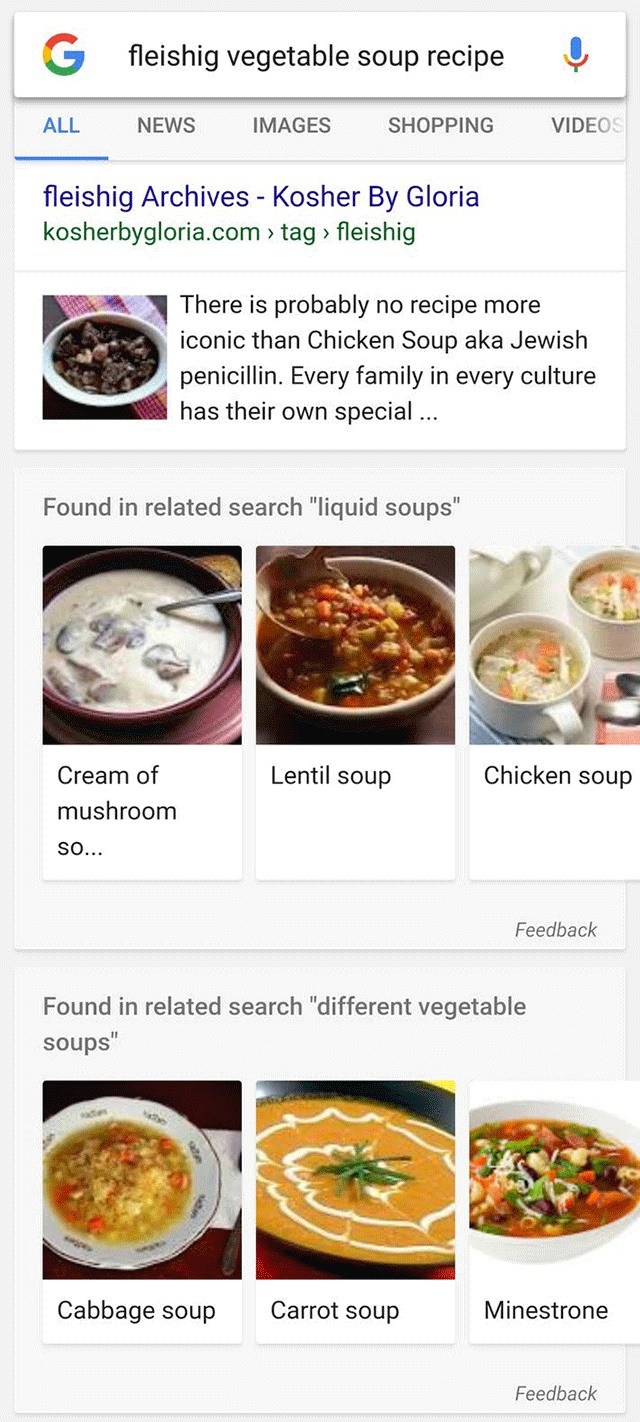google-recette-affichage