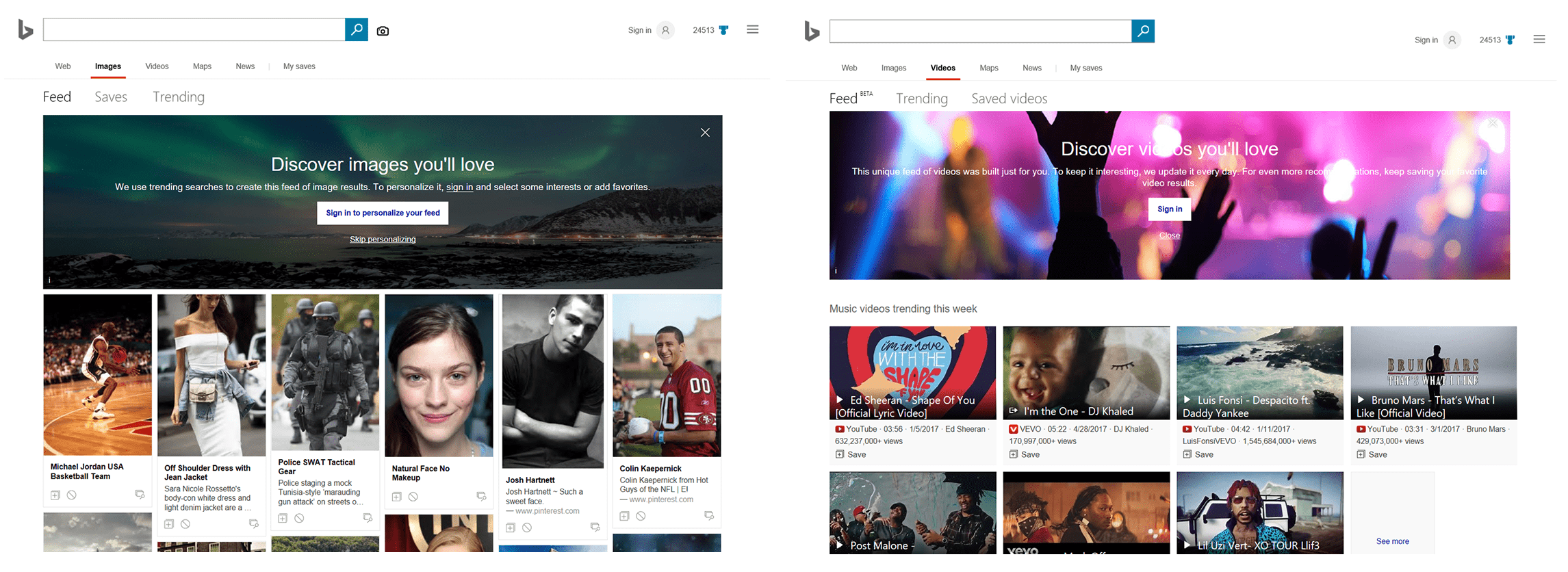 Bing-images-videos-interets