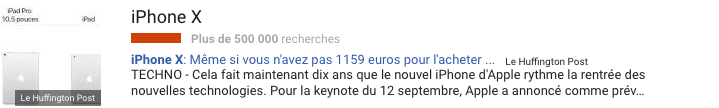 Les tops tendance de Google semaine 36 Lundi 4 septembre