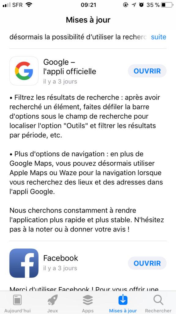 rapport-google-app