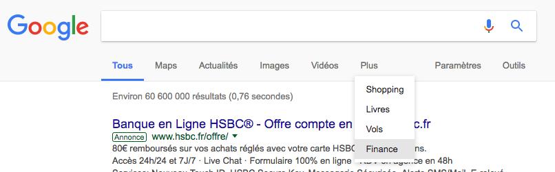 google-finance-onglet