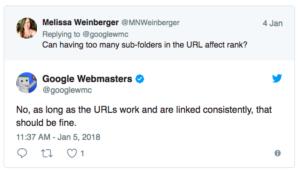 google-sturucture des liens