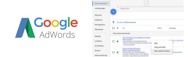 google-adwords-historique-annonce