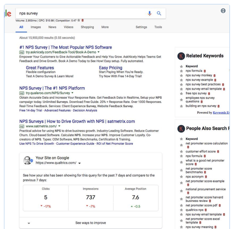 search-console-in-serp