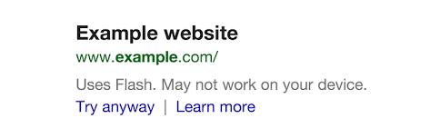 Google-avertissement-flash