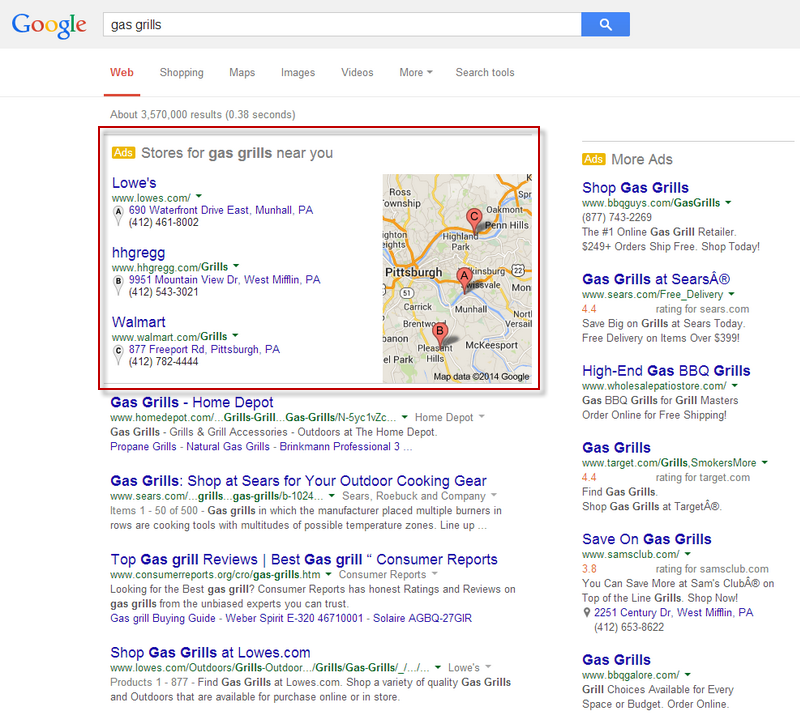 Google Adwords paid local