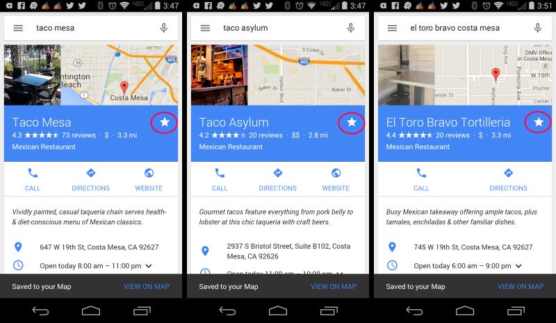 google-local-etoile