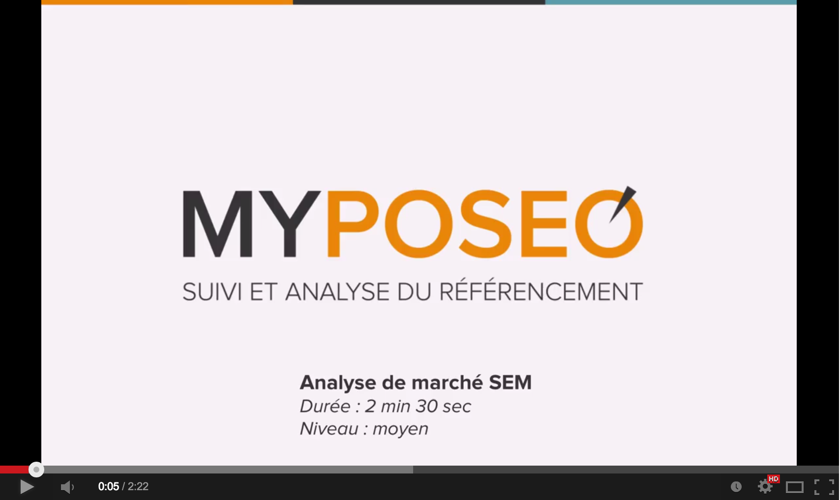 Youtube myposeo analyse SEM
