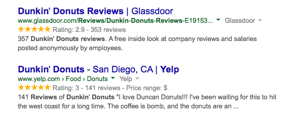 Google ratings yellow stars