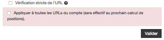 verification stricte de l'url