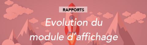 Evolution du module d'affichage et tri dans l'édition des blocs de rapport