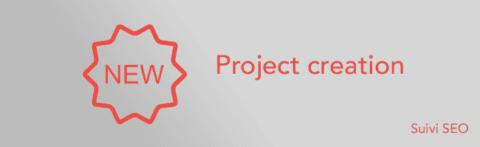 Nouvelle fenêtre de création de projet