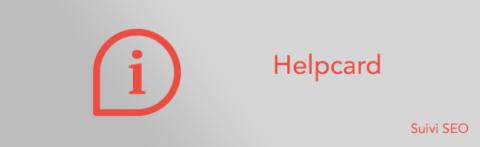 Helpcard : définition des icônes