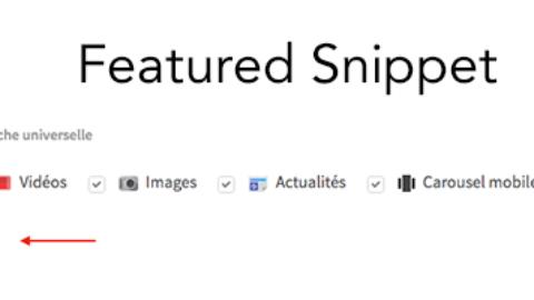 Prise en charge des Featured Snippets dans l'outil