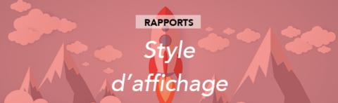 Modifier le style d'affichage d'un tableau dans votre rapport