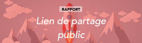 Partager votre rapport via un lien public